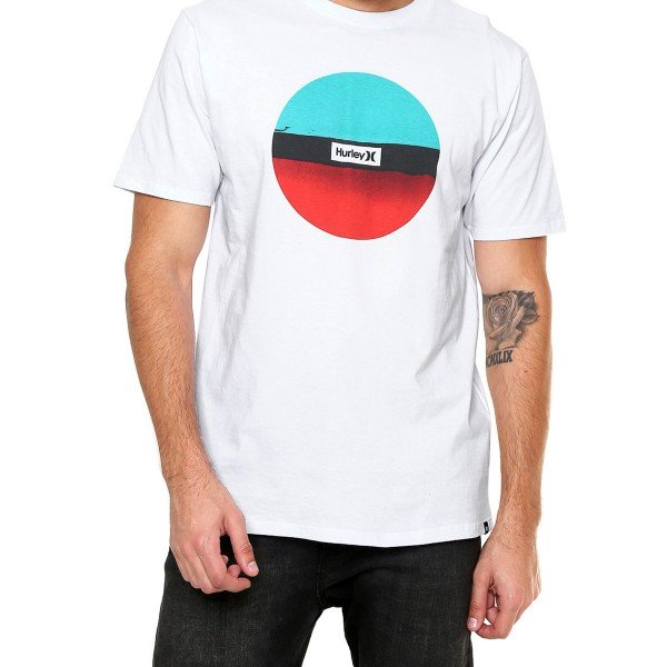 Camiseta Hurley Resin Masculina - Branca