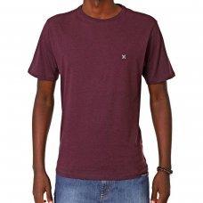 Camiseta Hurley Silk Mini Icon Masculina - Bordô