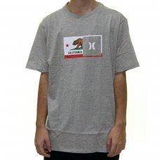 Camiseta Hurley Silk Destination Masculina - Cinza