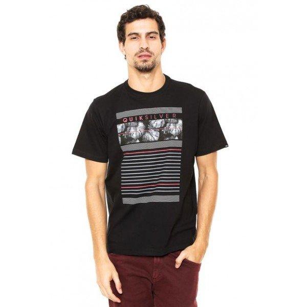 Camiseta Quiksilver Line Down - Preta