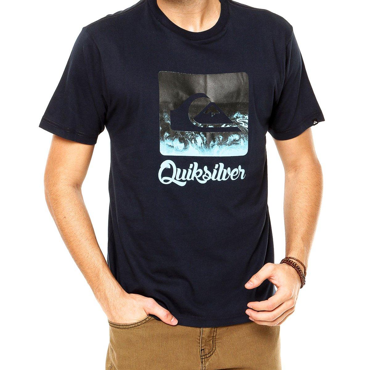 Camiseta Quiksilver Waterman Masculina - Marinho