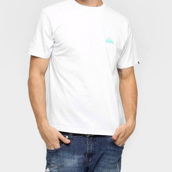 Camiseta Quiksilver Básica Palm Circle - Branco