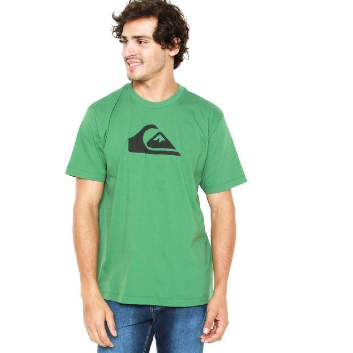 Camiseta Quiksilver Mountain Wave - Verde