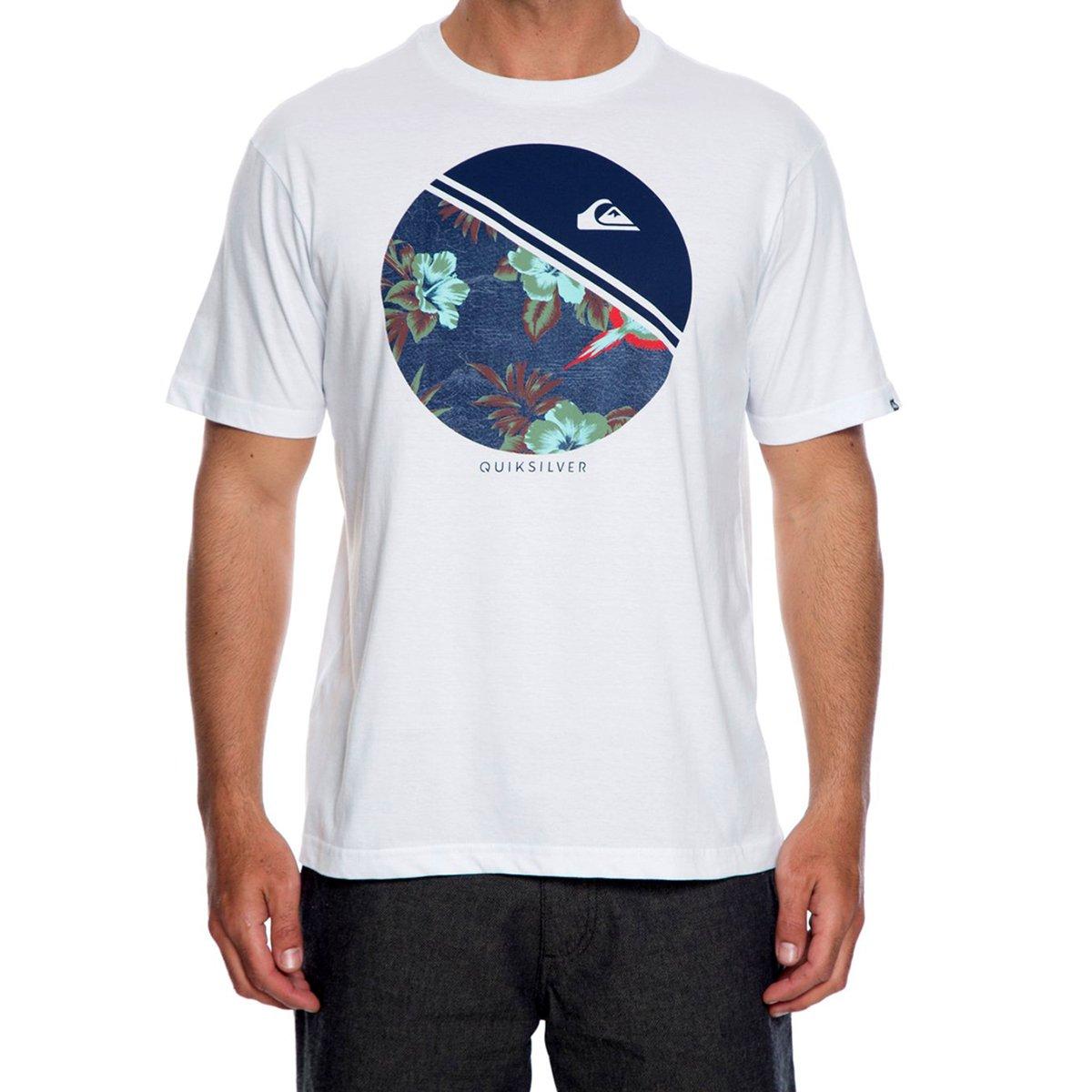 Camiseta Quiksilver Pack Classic Masculina - Branca