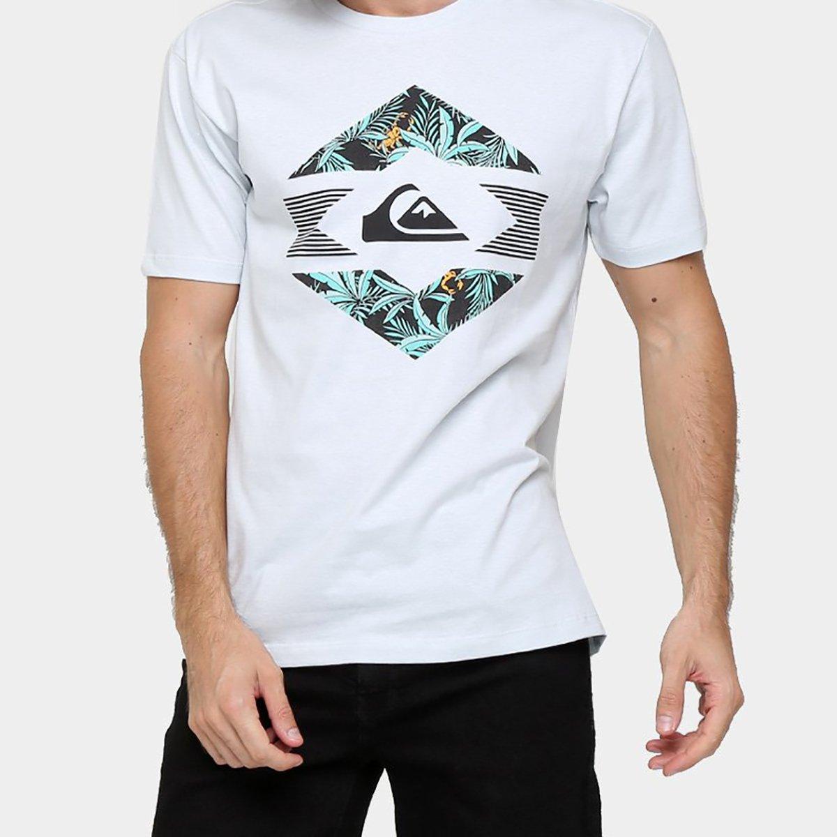 Camiseta Quiksilver Básica Split After Dark - Azul