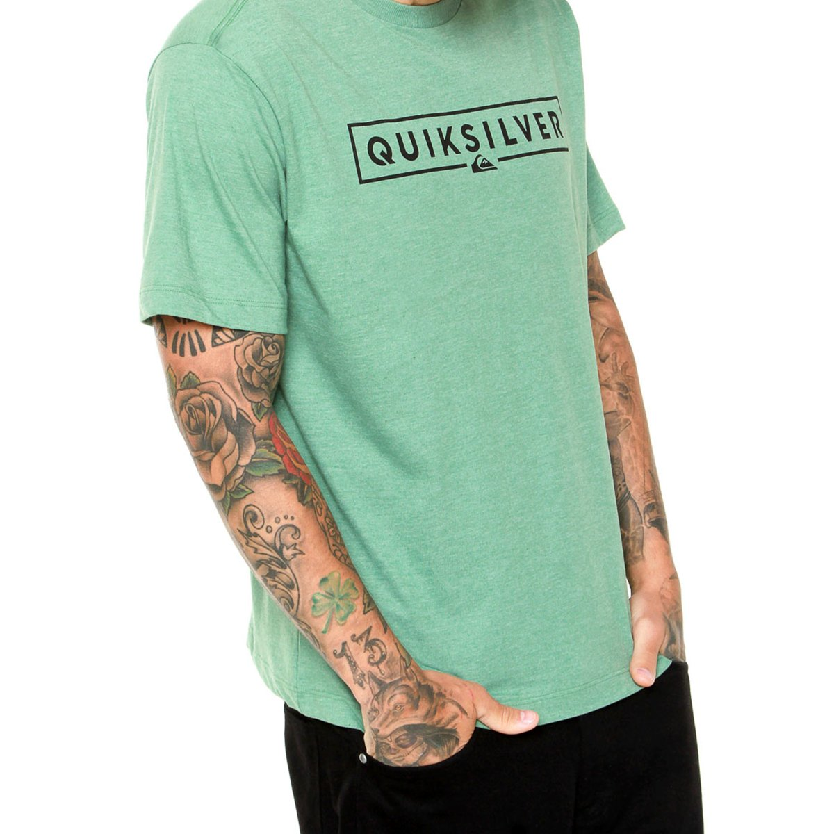 Camiseta Quiksilver Pack Color Masculina - Verde