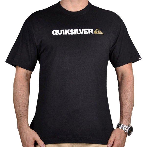 Camiseta Quiksilver Cracked Logo 2 Masculina - Preto