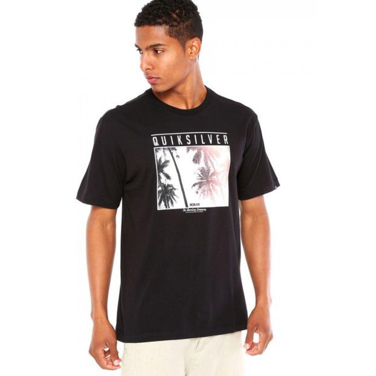 Camiseta Quiksilver  Perfect Masculina - Preta
