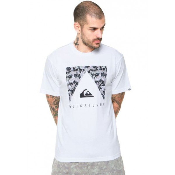 Camiseta Quiksilver Point Azul - Branca