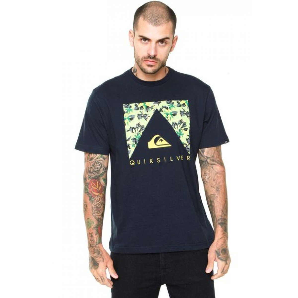 Camiseta Quiksilver Point Masculina - Azul Marinho