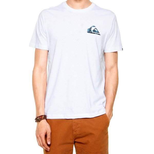 Camiseta Quiksilver Recycled Dot Masculina - Branca