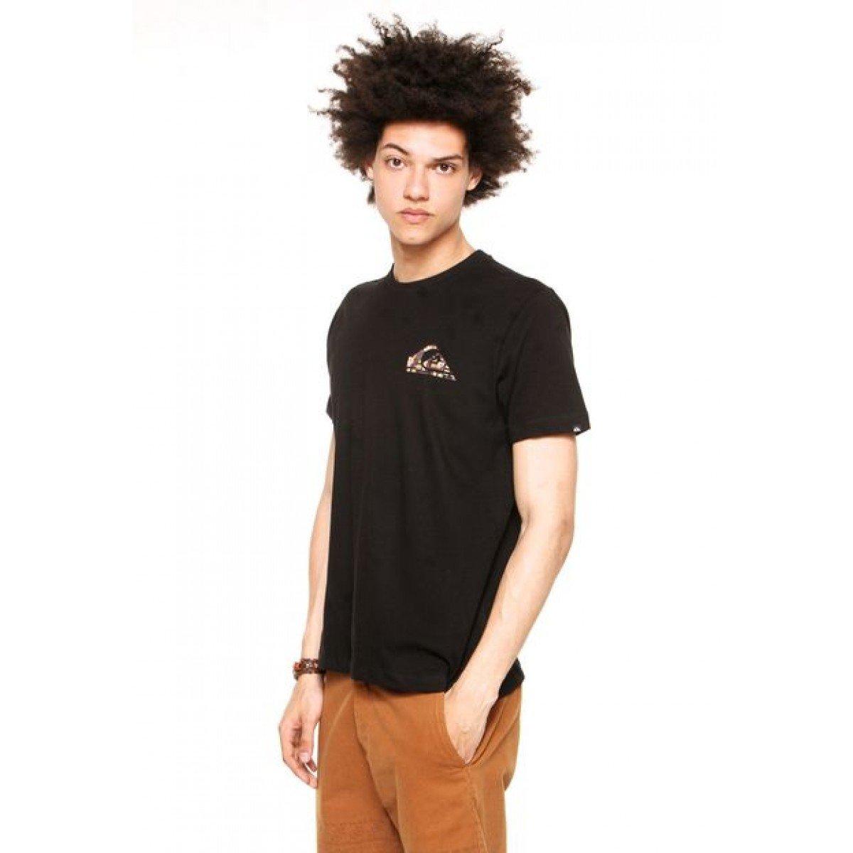 Camiseta Quiksilver Recycled Dot - Preta