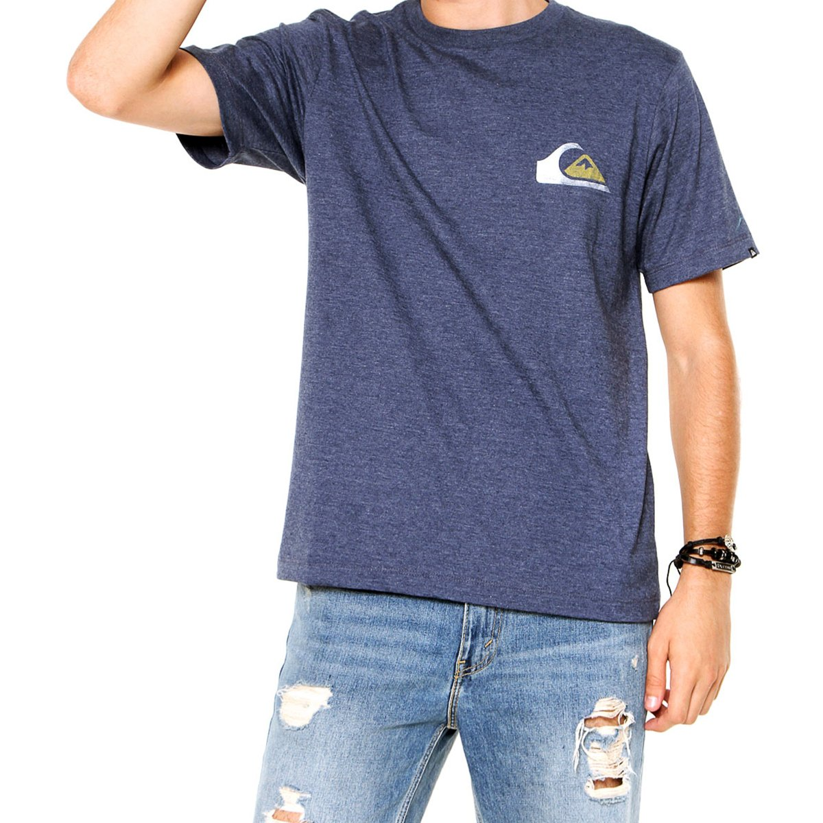 Camiseta Quiksilver Cracked Masculina - Marinho