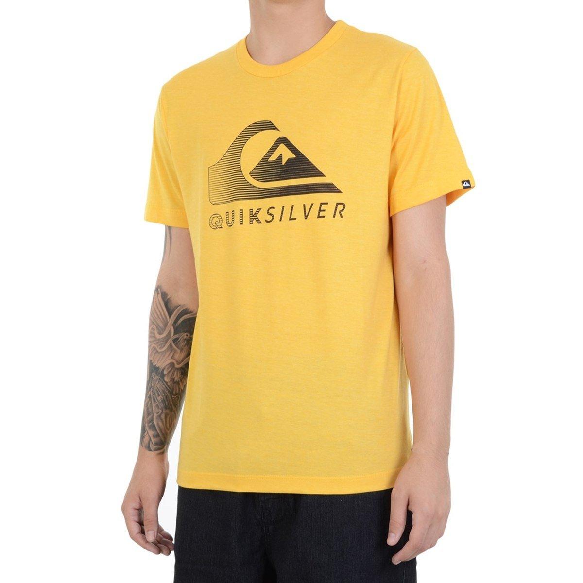 Camiseta Quiksilver Action Logo - Amarelo