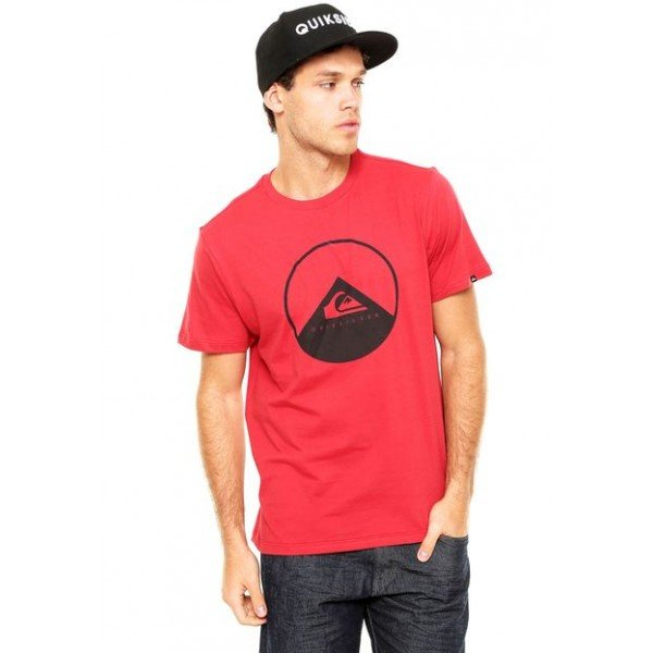 Camiseta Quiksilver New Wave - Vermelha