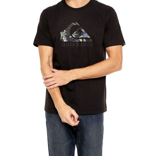 Camiseta Quiksilver Tropical Side Masculina - Preta