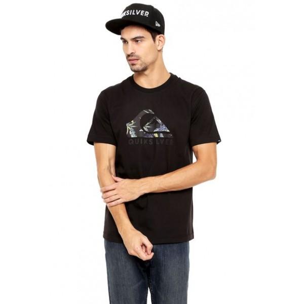 Camiseta Quiksilver Tropical Side - Preta