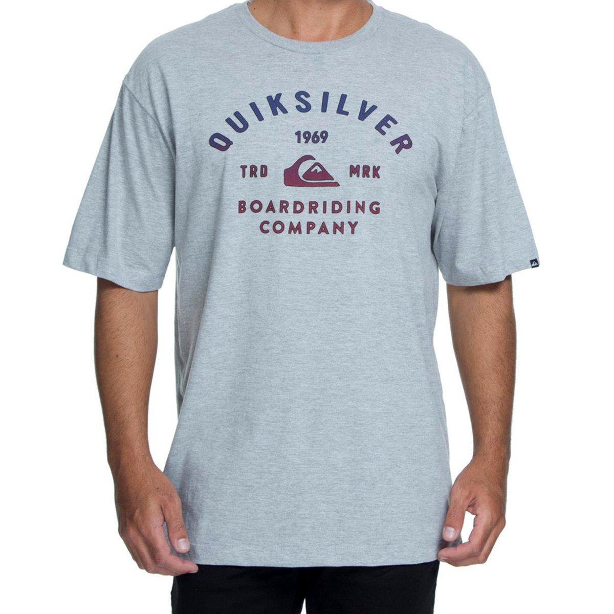 Camiseta Quiksilver Amsberry Masculina - Mescla