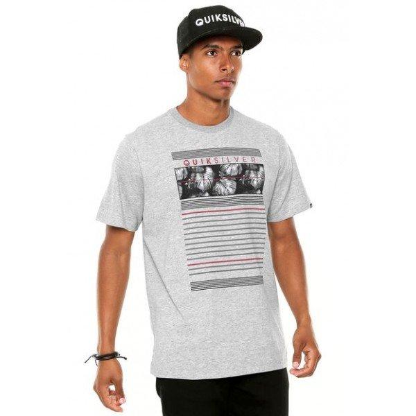 Camiseta Quiksilver Line Down Cinza