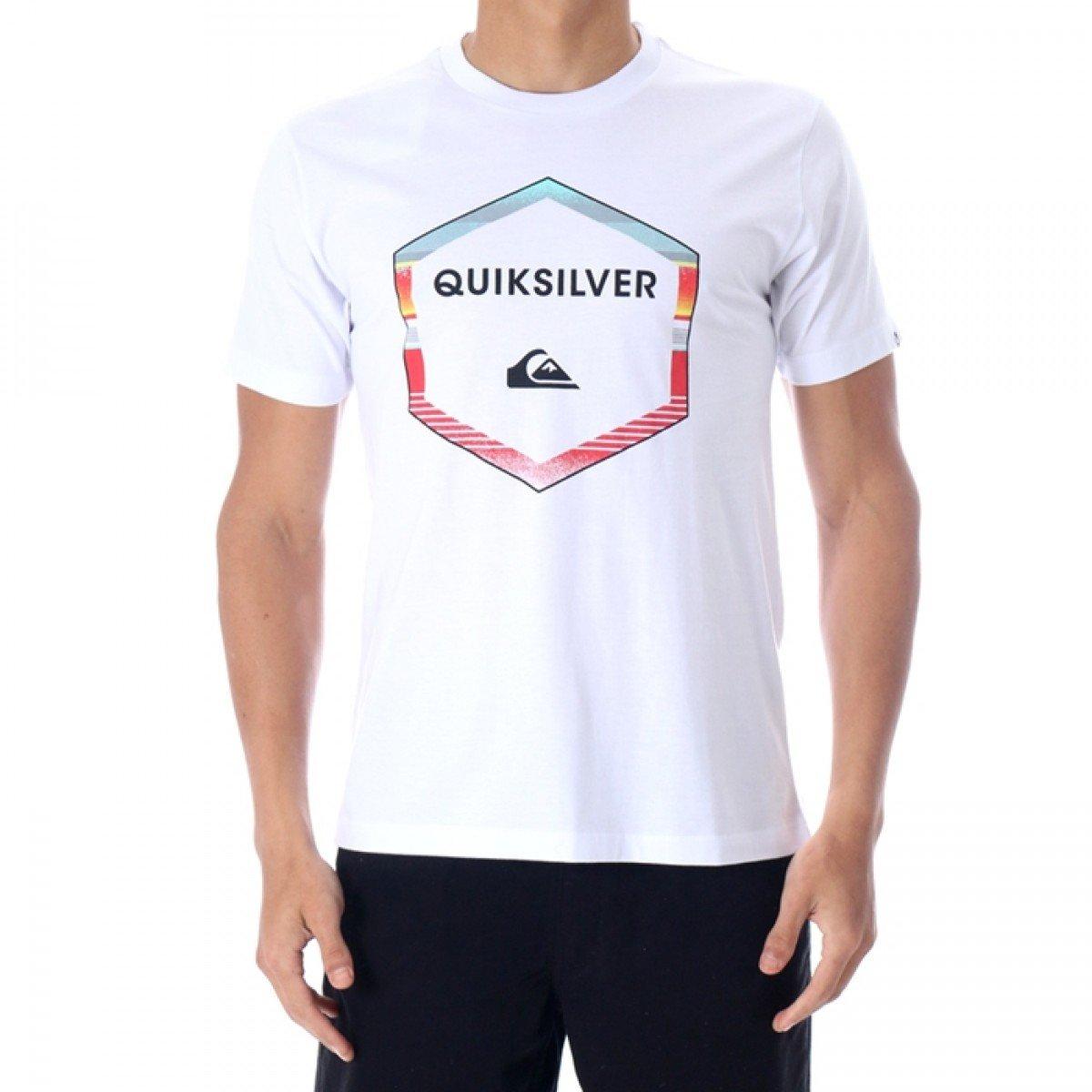 Camiseta Quiksilver Geometric Masculina - Branca