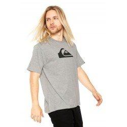Camiseta Quiksilver Logo Essential - Cinza