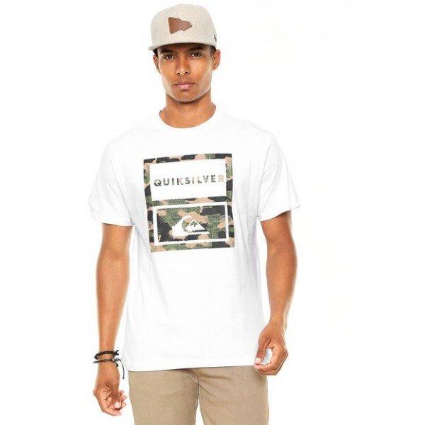 Camiseta Quiksilver Hawaii Camo - Branca