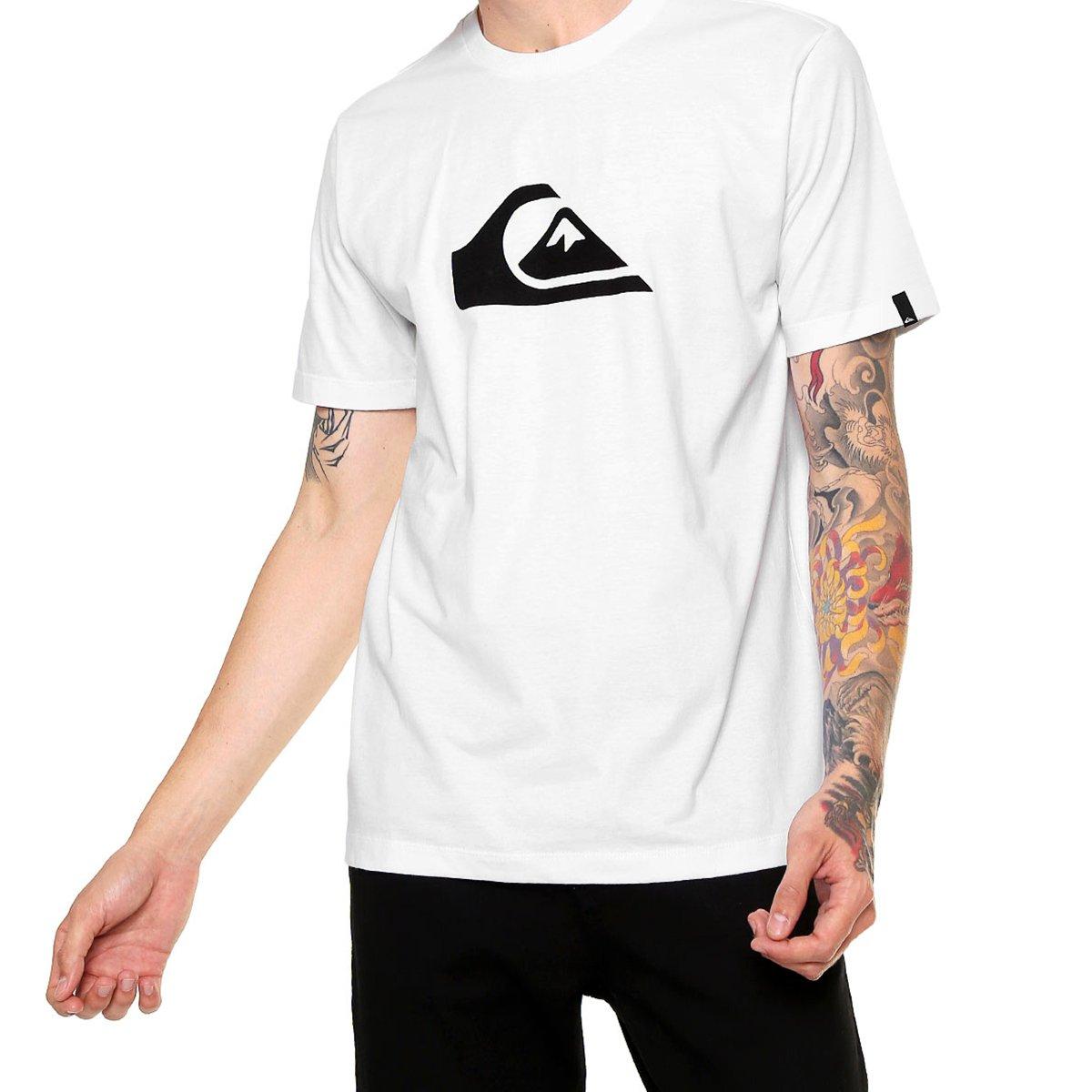 Camiseta Quiksilver Logo Masculina - Branca