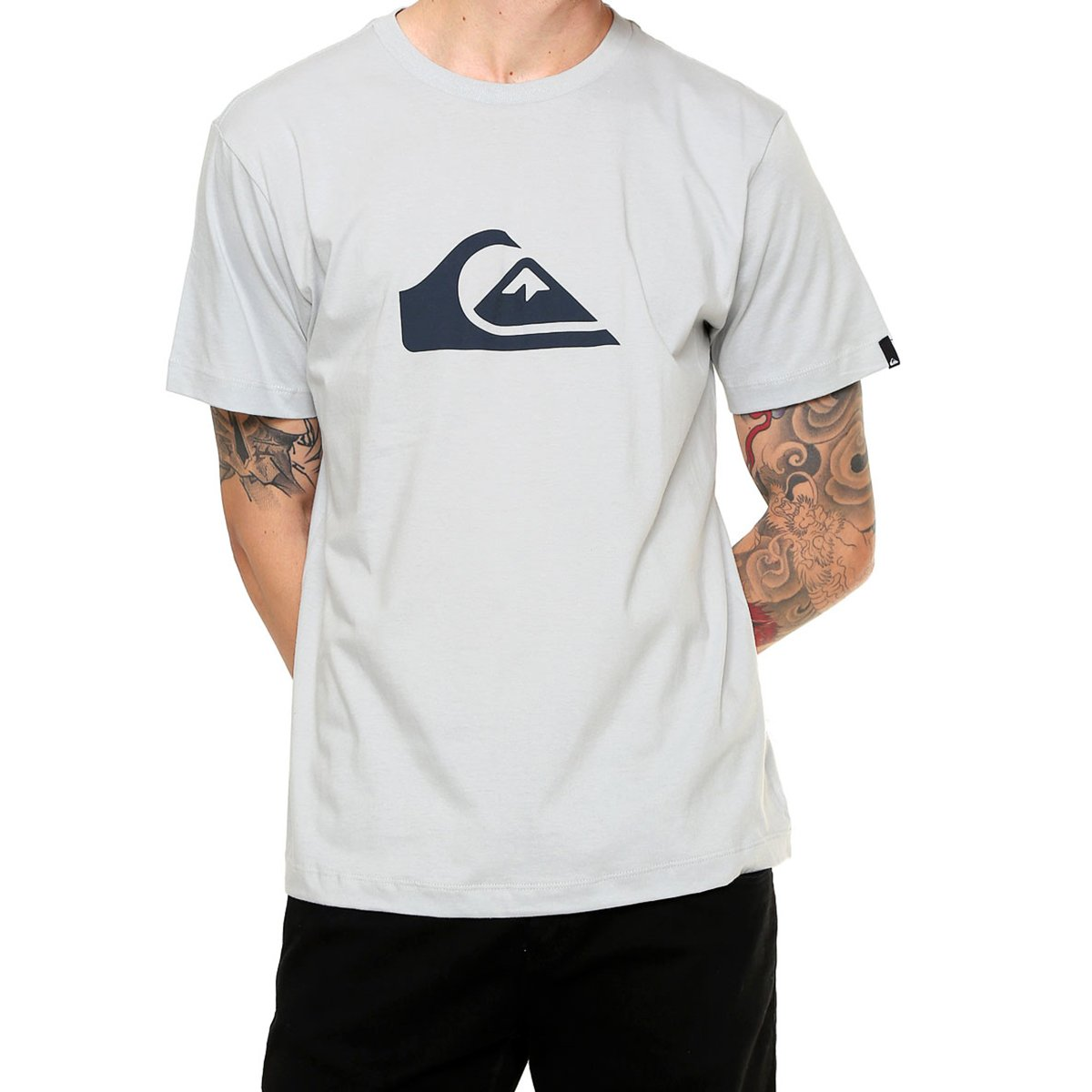 Camiseta Quiksilver Logo Masculina - Cinza