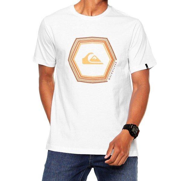 Camiseta Quiksilver Sounds Masculina - Branca