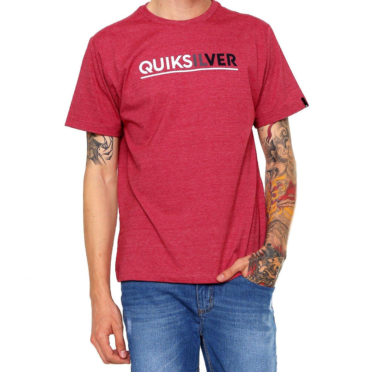 Camiseta Quiksilver Logo Masculina - Vermelha