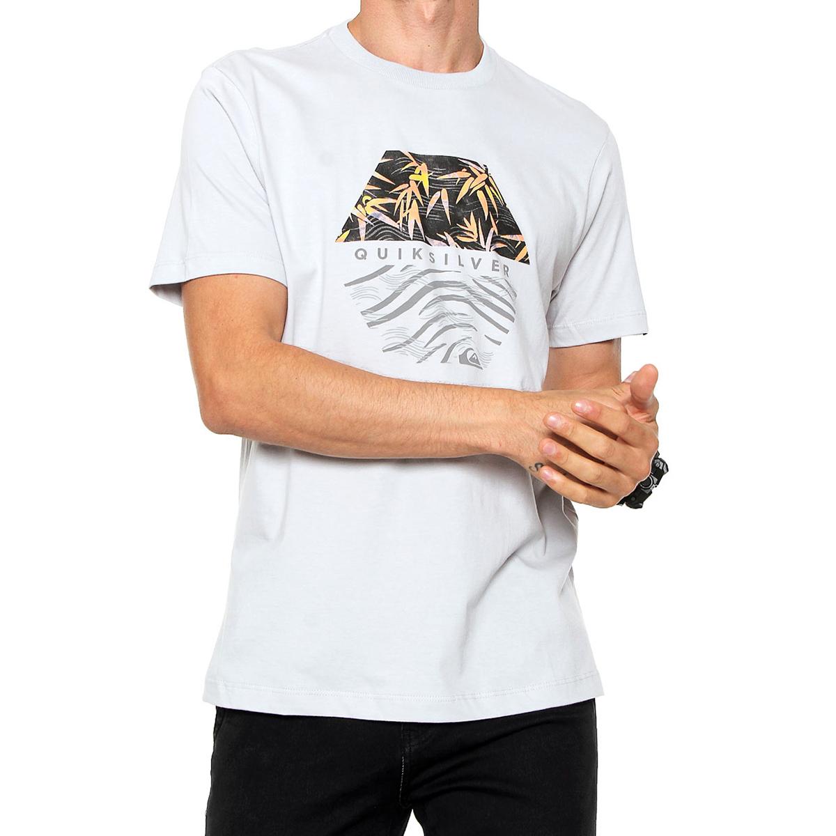 Camiseta Quiksilver Bamboo Breakfast Masculina - Cinza