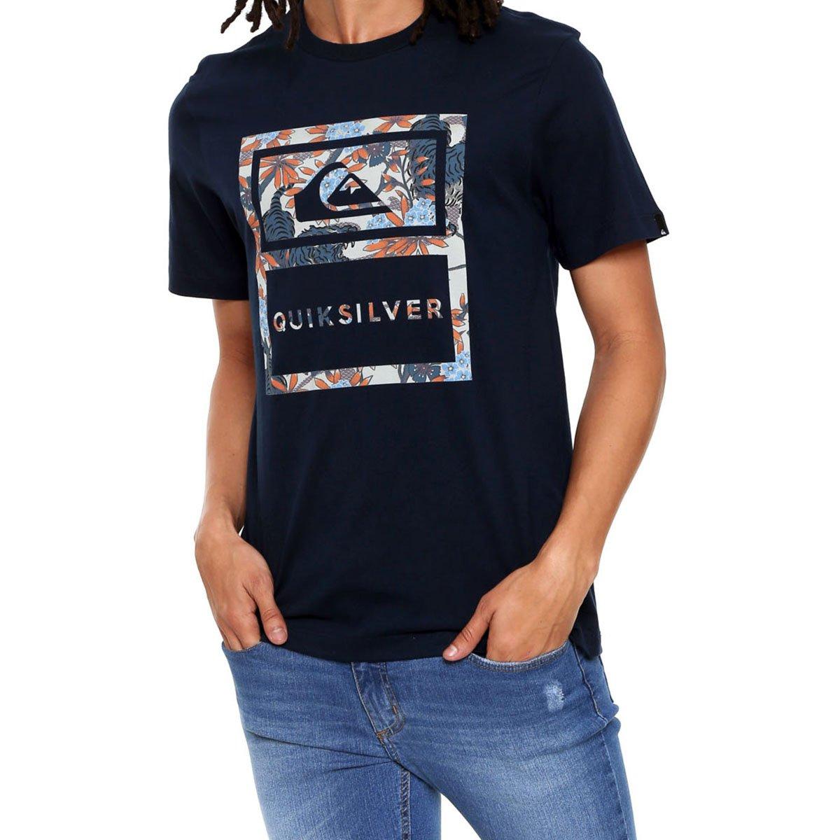 Camiseta Quiksilver Tiger Tracks Masculina - Marinho