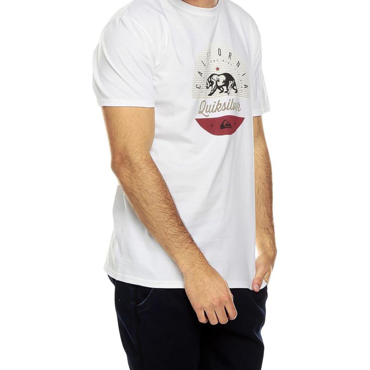 Camiseta Quiksilver Cali Classic Masculina - Branca