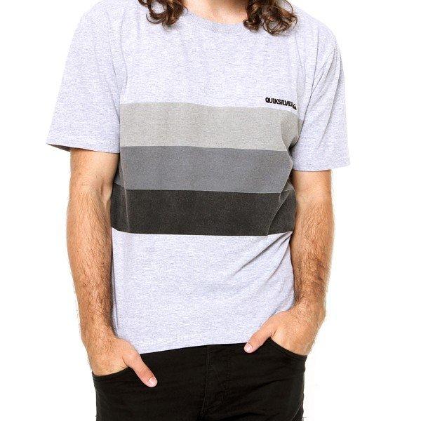 Camiseta Quiksilver Silence Masculina - Cinza