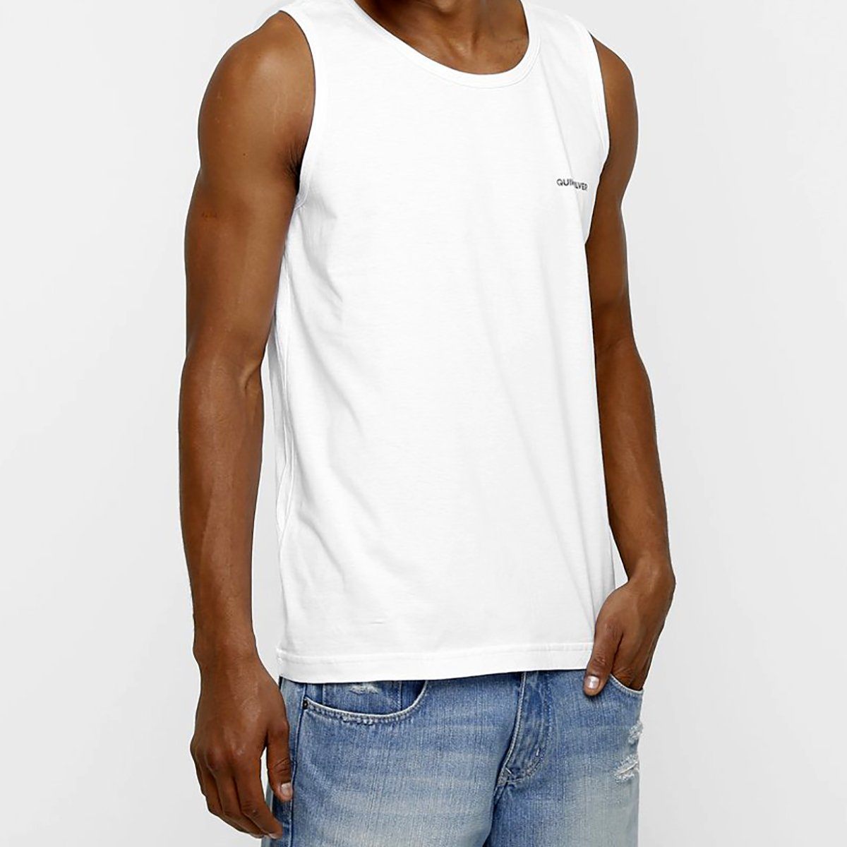 Camiseta Regata Quiksilver Fill Masculina - Branco