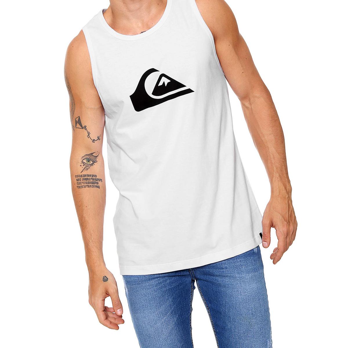 Camiseta Regata Quiksilver Básica Comp Masculina - Branca