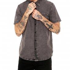 Camisa Sarja Quiksilver Acid Masculina - Cinza