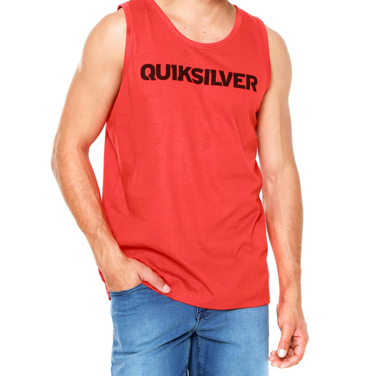 Camiseta Regata Quiksilver High Voltage Masculina - Vermelha