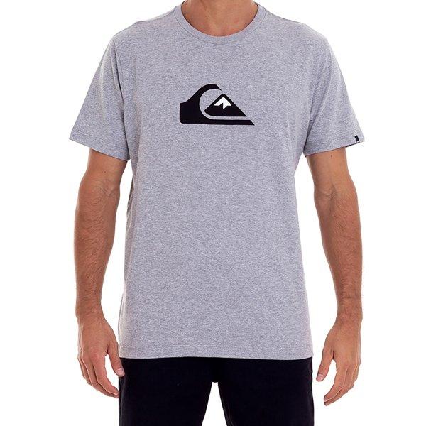 Camiseta Quiksilver M/C Comp Logo Masculina - Cinza