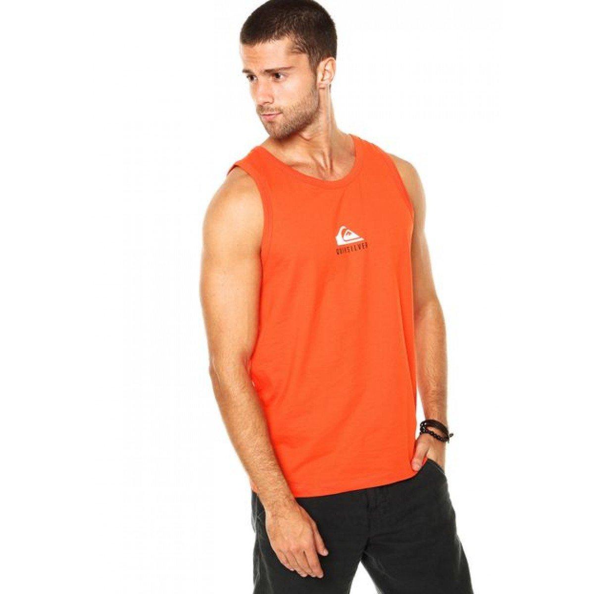 Camiseta Quiksilver Crafty Popsicle Masculina - Laranja