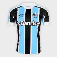 Camisa Grêmio I 21/22 s/n° Torcedor Umbro Masculina - Azul e Branco