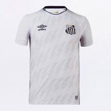 Camisa Santos I 21/22 s/n° Torcedor Umbro Masculina - Branco e Preto