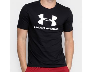 Camiseta Under Armour Sportstyle Logo Masculina - Preto e Branco