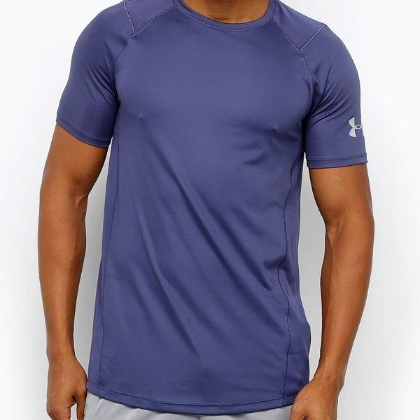 Camiseta Under Armour MK-1 Masculina - Azul e Cinza