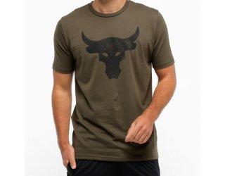 Camiseta Under Armour Project Rock Bul Masculina - Verde escuro e Preto