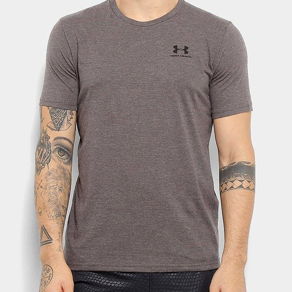 Camiseta Under Armour Sportstyle Left Chest SS Masculina - Chumbo