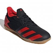 Chuteira Futsal Adidas Predator 20 4 IN - Preto e Vermelho