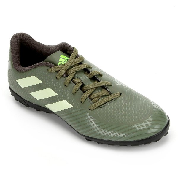 Chuteira Society Adidas Artilheira III TF - Verde e Preto