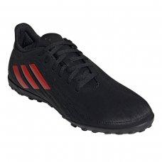 Chuteira Society Adidas Deportivo Exclusiva - Preto e Vermelho
