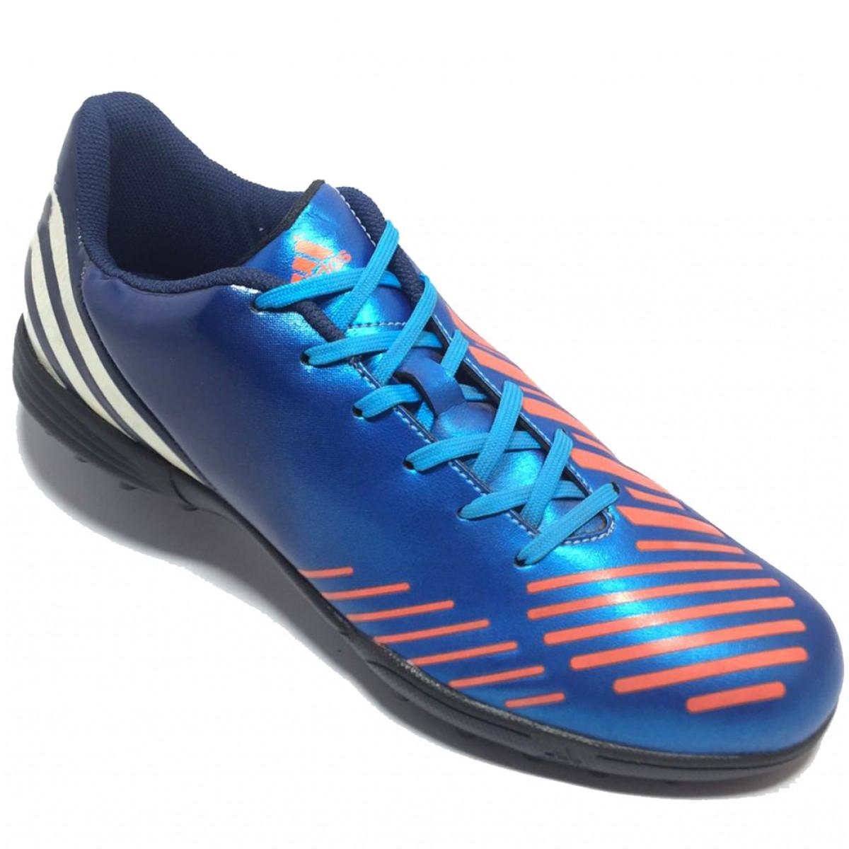24bf3869d Chuteira Society Adidas Predito LZ TRX TF Azul e Laranja - Compre ...
